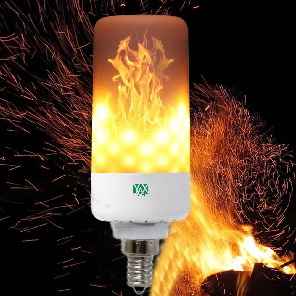 Ywxlight E12 Led Flame Effect Fire Light Bulbs Flickering