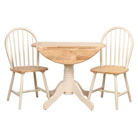 Cotswold Ivory Round Table and Chairs Dunelm