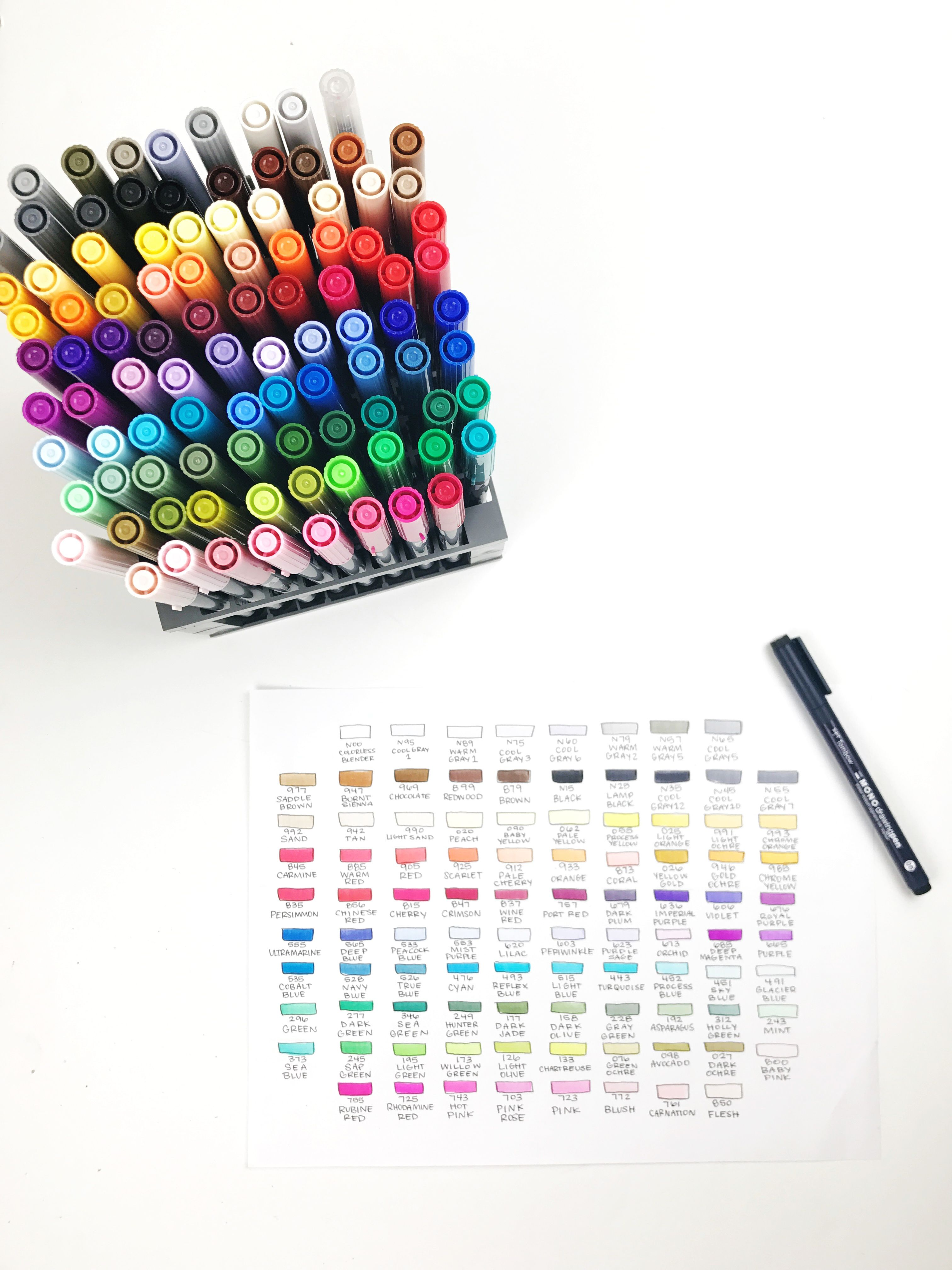 How To Organize Your Tombow Dual Brush Pens Tombow Dual Brush
