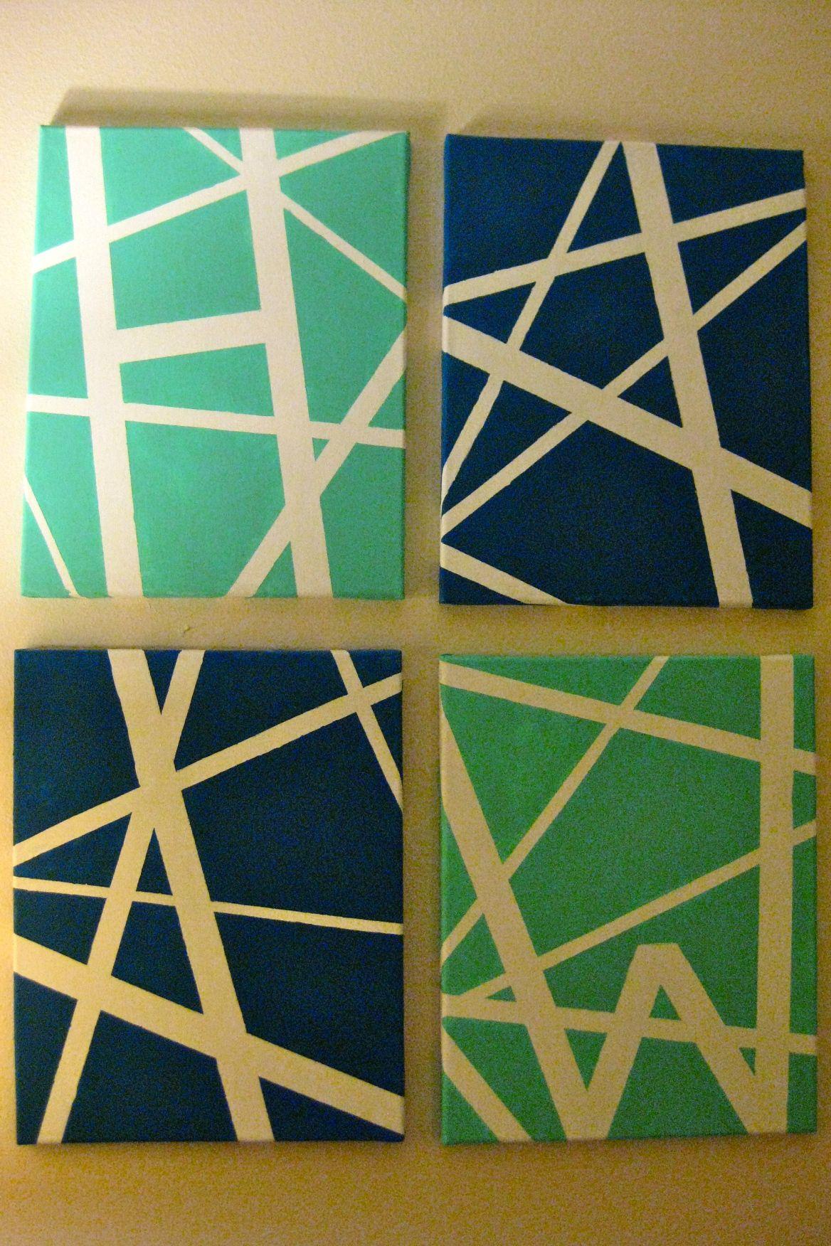 Diy Art Diy Canvas Art Painters Tape Art Tape Art