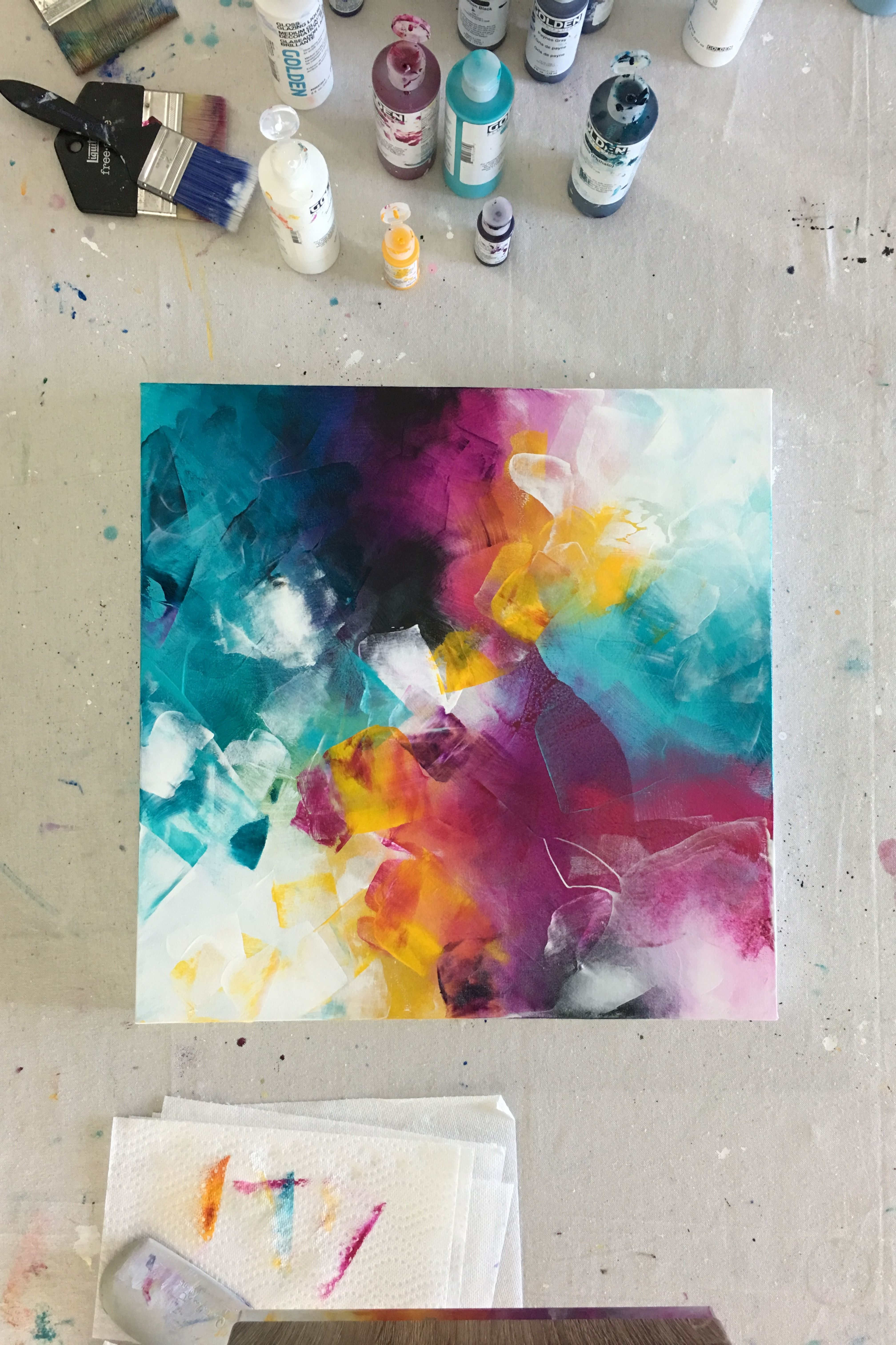 Colorful Layered Abstract Painting Colorful Abstract Painting Abstract Art Painting Abstract