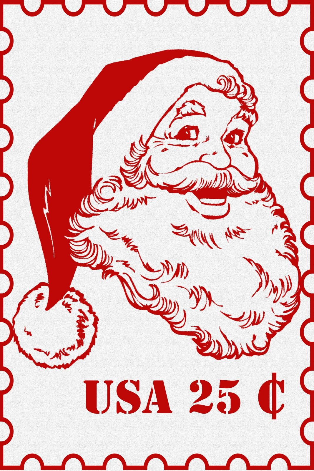 Secret Santa Postage Stamp Printable Christmas