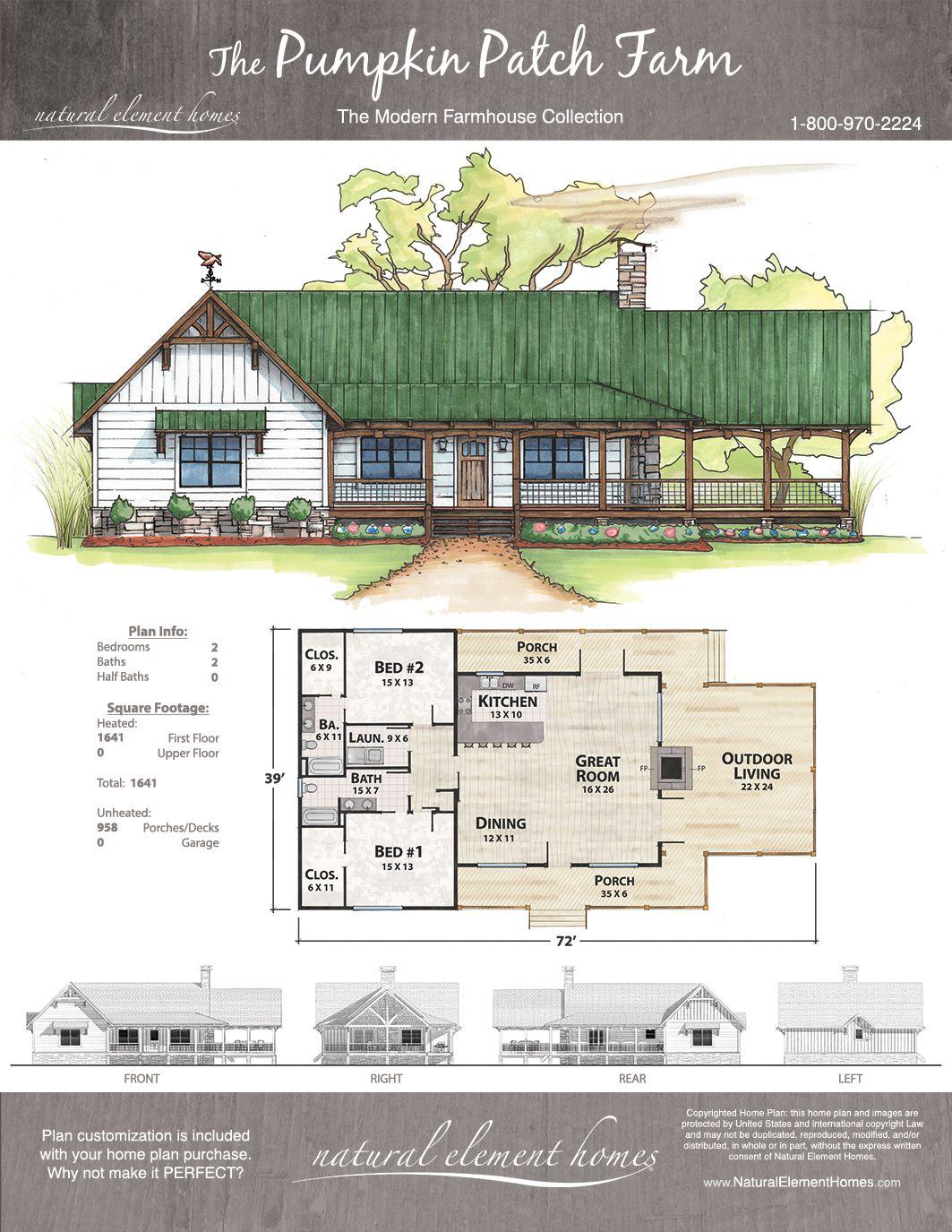Pumpkin Patch Farm Natural Element Homes Modern Farmhouse Dream House Plans Building A House Farmhouse Plans