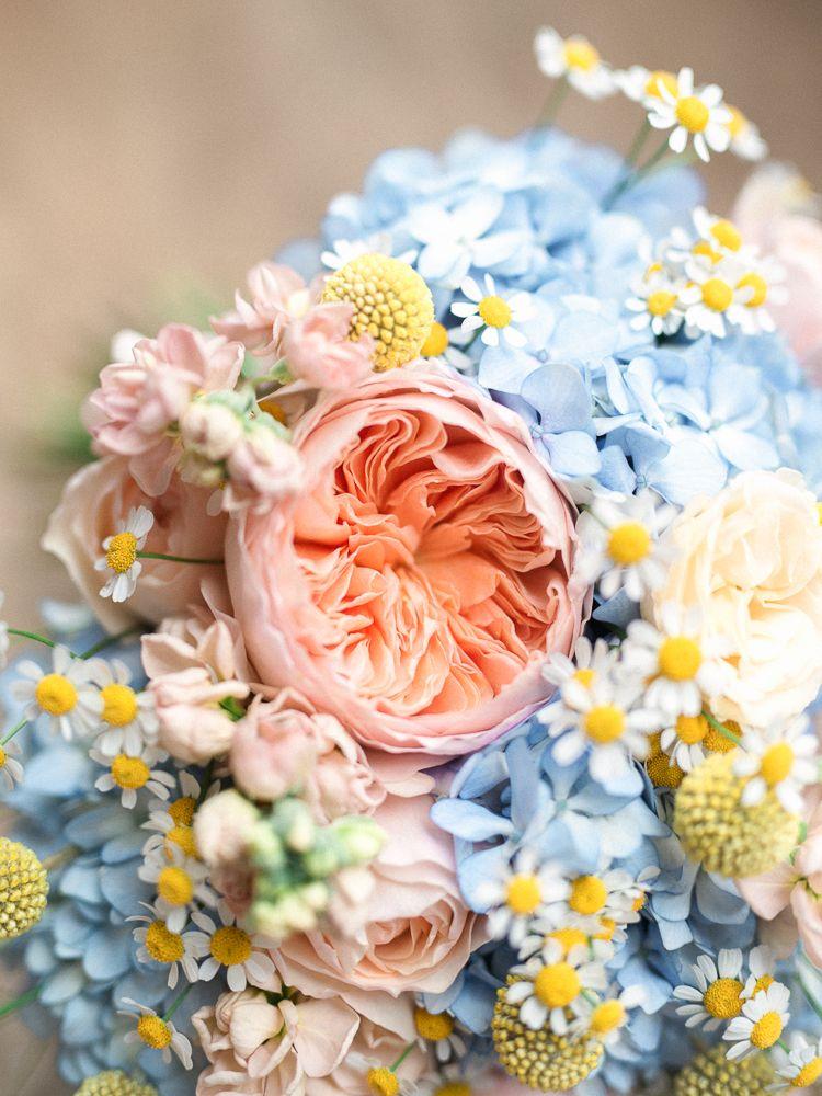 Blush Pink Wedding Flower Ideas Yellow Wedding Flowers Blue