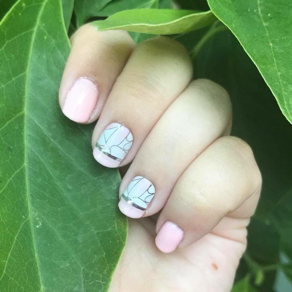 Jamberry Toppling Petals wrap and Color Cure lacquer   Beauty: Manis ...