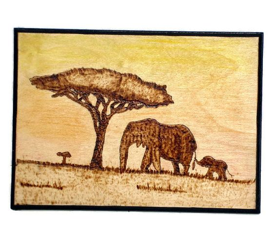 Elephant art mother and baby elephant gifts under 20 wood elephant art mother and baby elephant gifts under 20 wood burned elephant negle Gallery