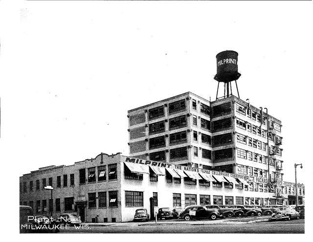 Milprint Manufacturing Plant located at 4200 N.Holton in Milwaukee-1940's.