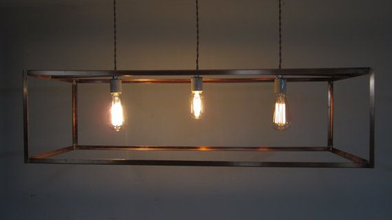 industrial lighting bare bulb light fixtures. Industrial Lighting Copper Cage Chandelier Bare Bulb By Khalima, $495.00 Light Fixtures N