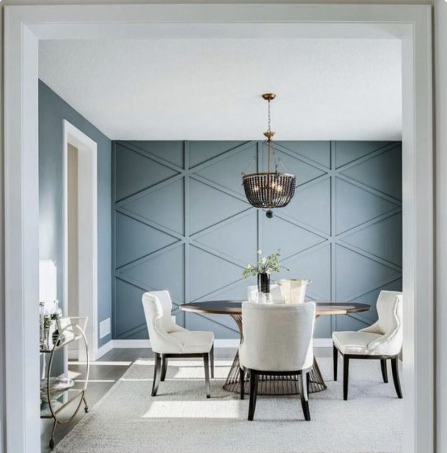 Dining Room In 2020 Feature Wall Living Room Dining Room Walls Living Room Mirrors