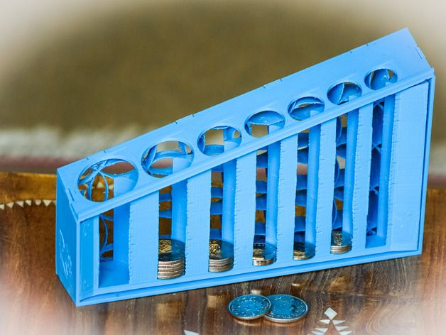 3D Print This Coin Sorter to Sort Your Loose Change