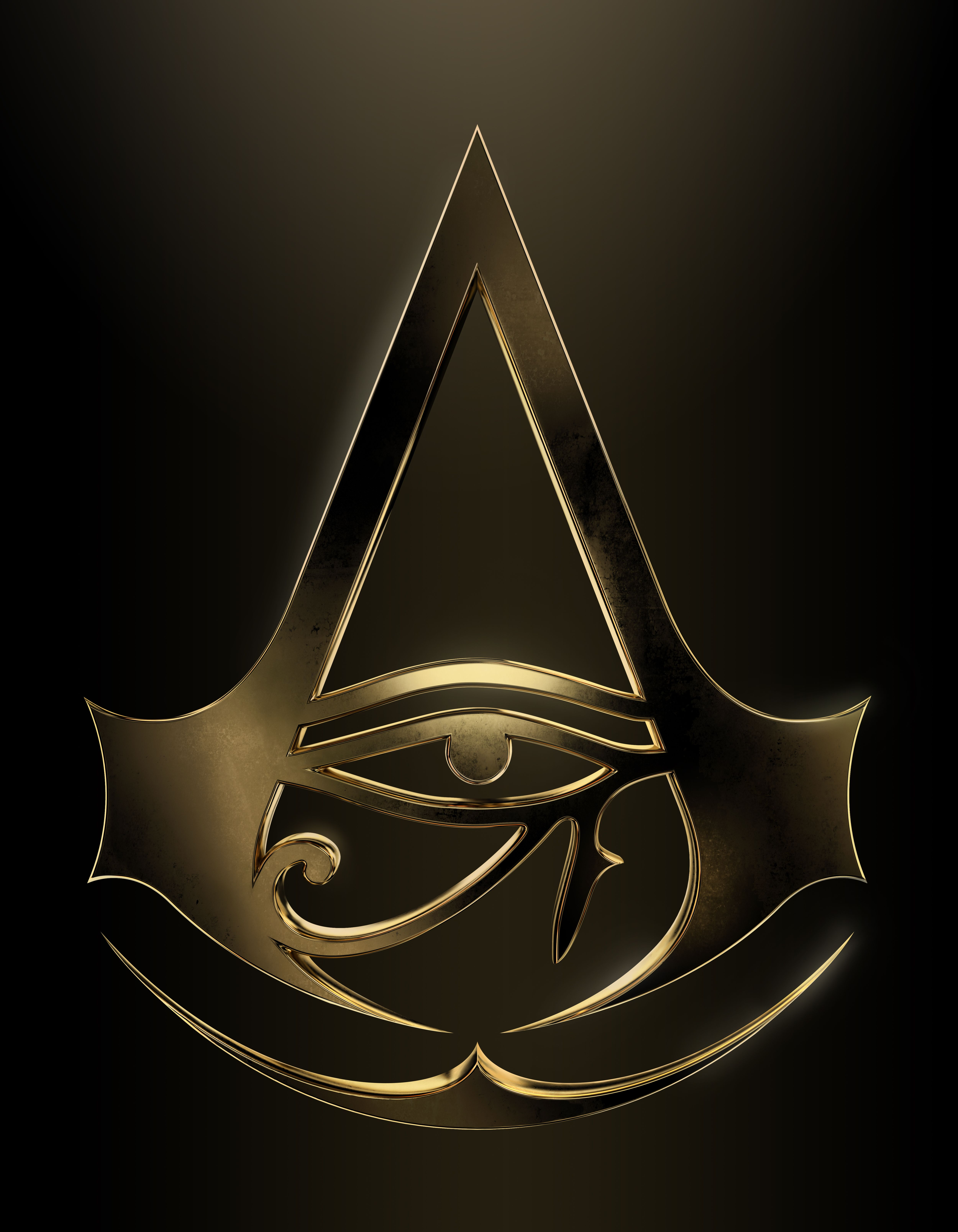 AC Origins gold logo Assassins creed tattoo, Assassins