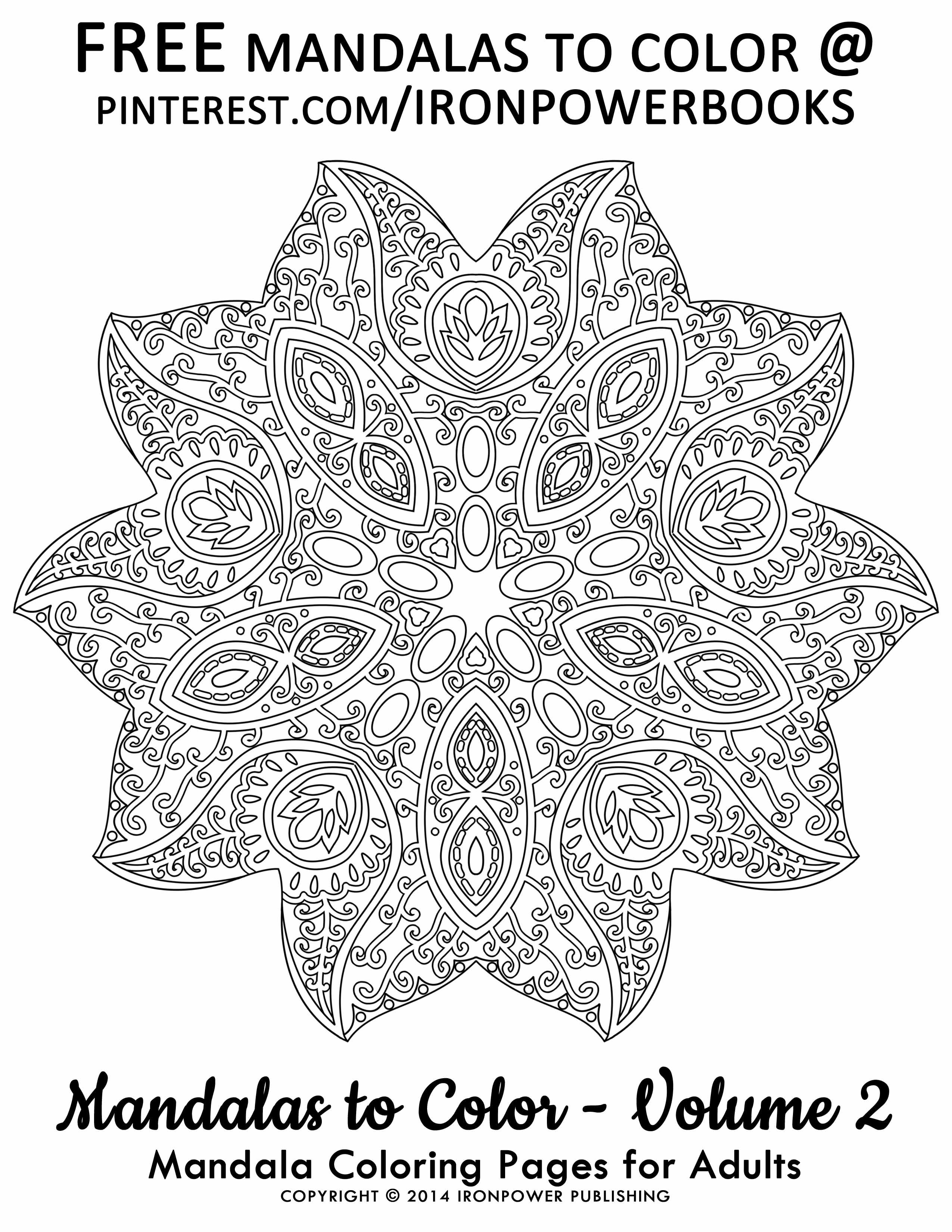 Mandala Coloring Pages for FREE ironpowerbooks Please use freely
