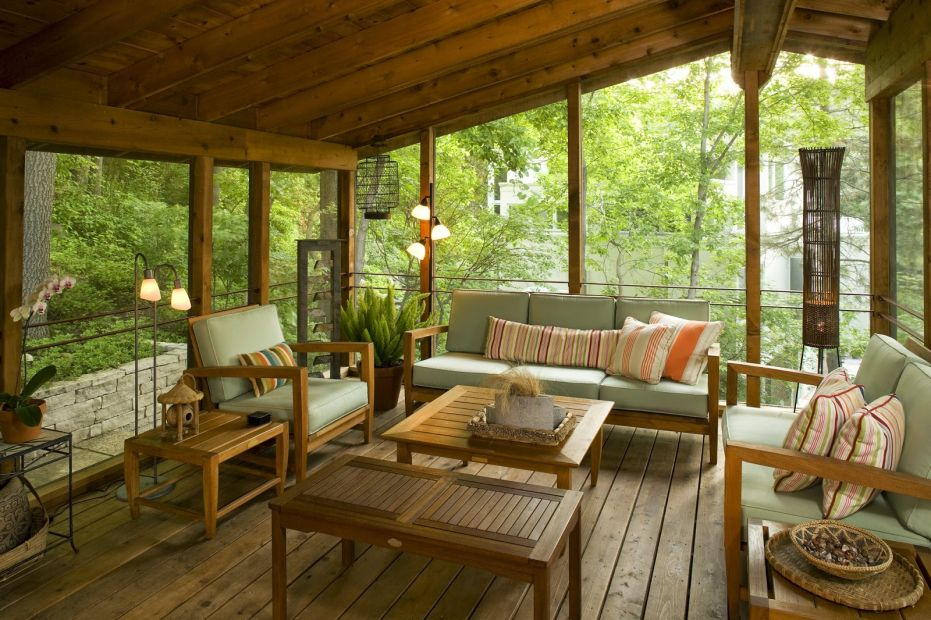 Pin by Ally Hamilton on Livingroom | Back porch designs on Large Back Porch Ideas id=23642