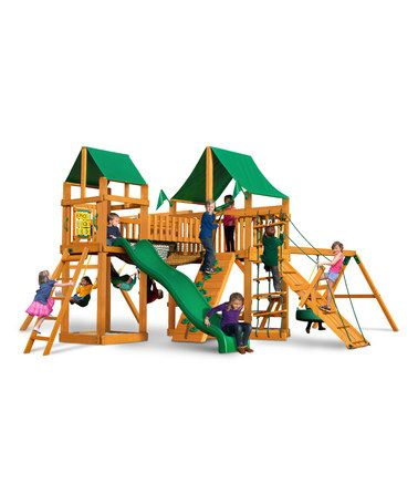 This Pioneer Peak Amber Posts Amp Green Canopy Playset Is