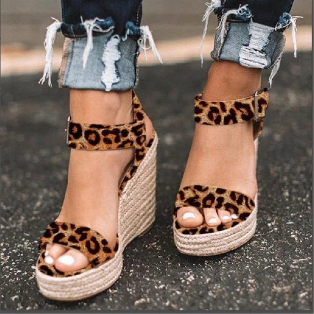 Womens Casual Party Shoes Camel Open Toe Gladiator Sandals Platform High Heels