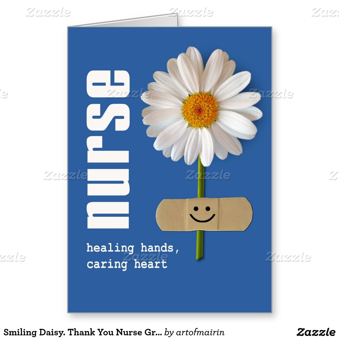 Smiling daisy thank you nurse greeting card nursing school thank you nurse greeting card bookmarktalkfo Images