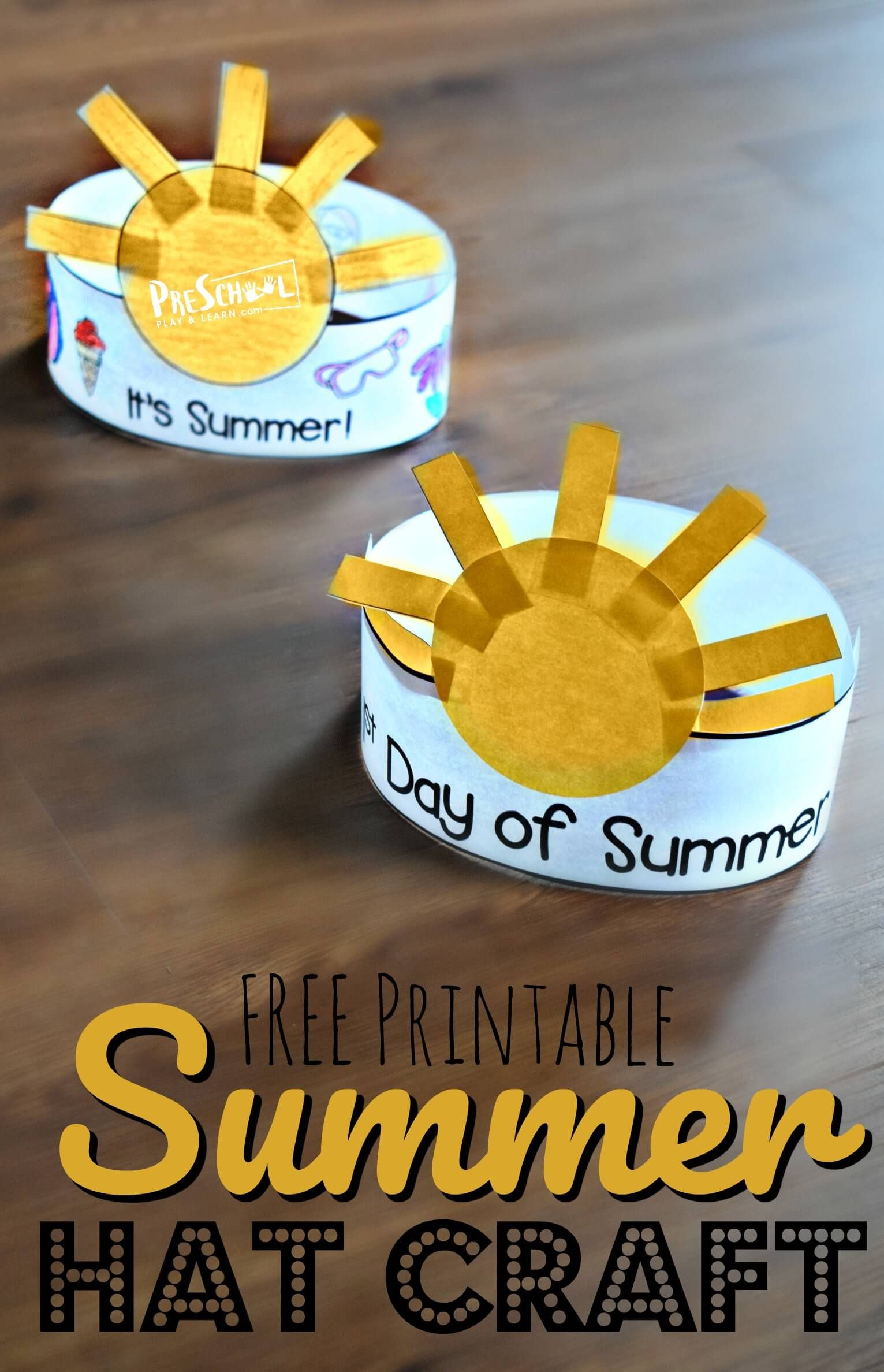 Free First Day Of Summer Printable Hat