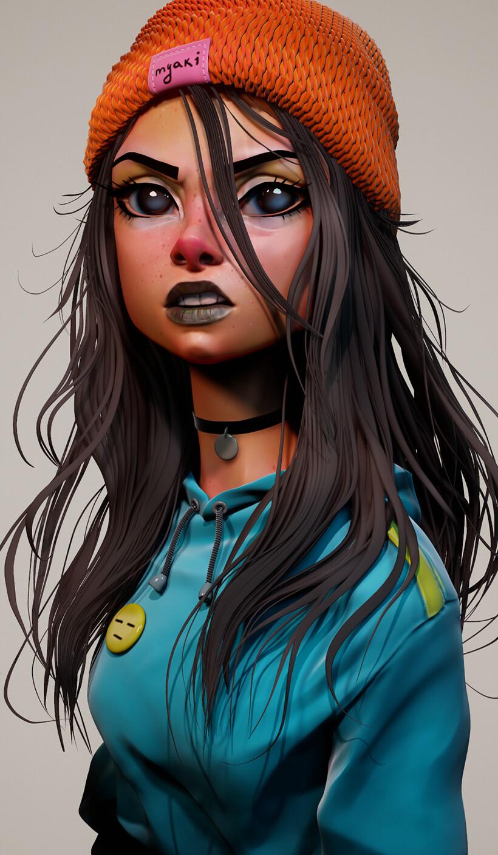 ArtStation - Cyber Hunters Zero 3d, Olya Anufrieva