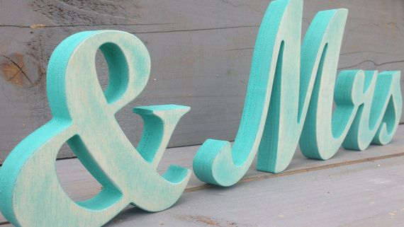 Nautical Wedding Light Blue Mr Mrs Distressed Sign Beach