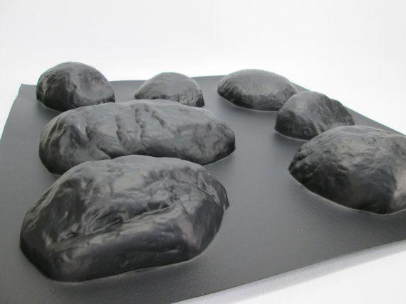Concrete Molds 14 Pc Set River Rock Wall Veneer Plastic Cement Forms Rock Veneer River Rock Cement Statues