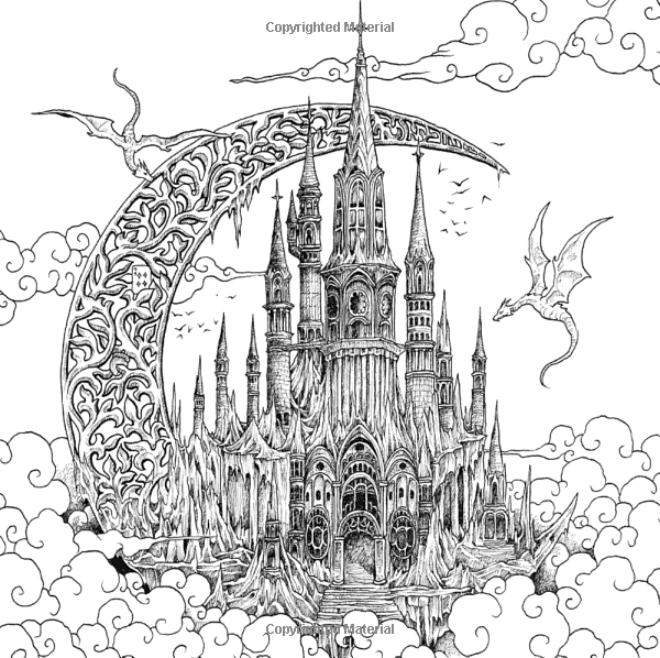 Amazon Com Fantomorphia An Extreme Coloring And Search Challenge 9780525536727 Kerby Ros Castle Coloring Page Detailed Coloring Pages Dragon Coloring Page