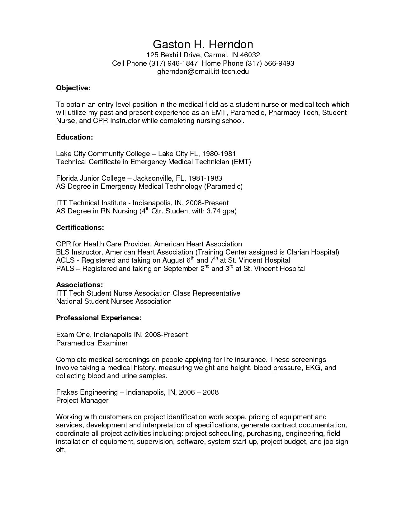 Resume Profile Examples Resume For Triage Nurse  Httpwwwresumecareerresumefor
