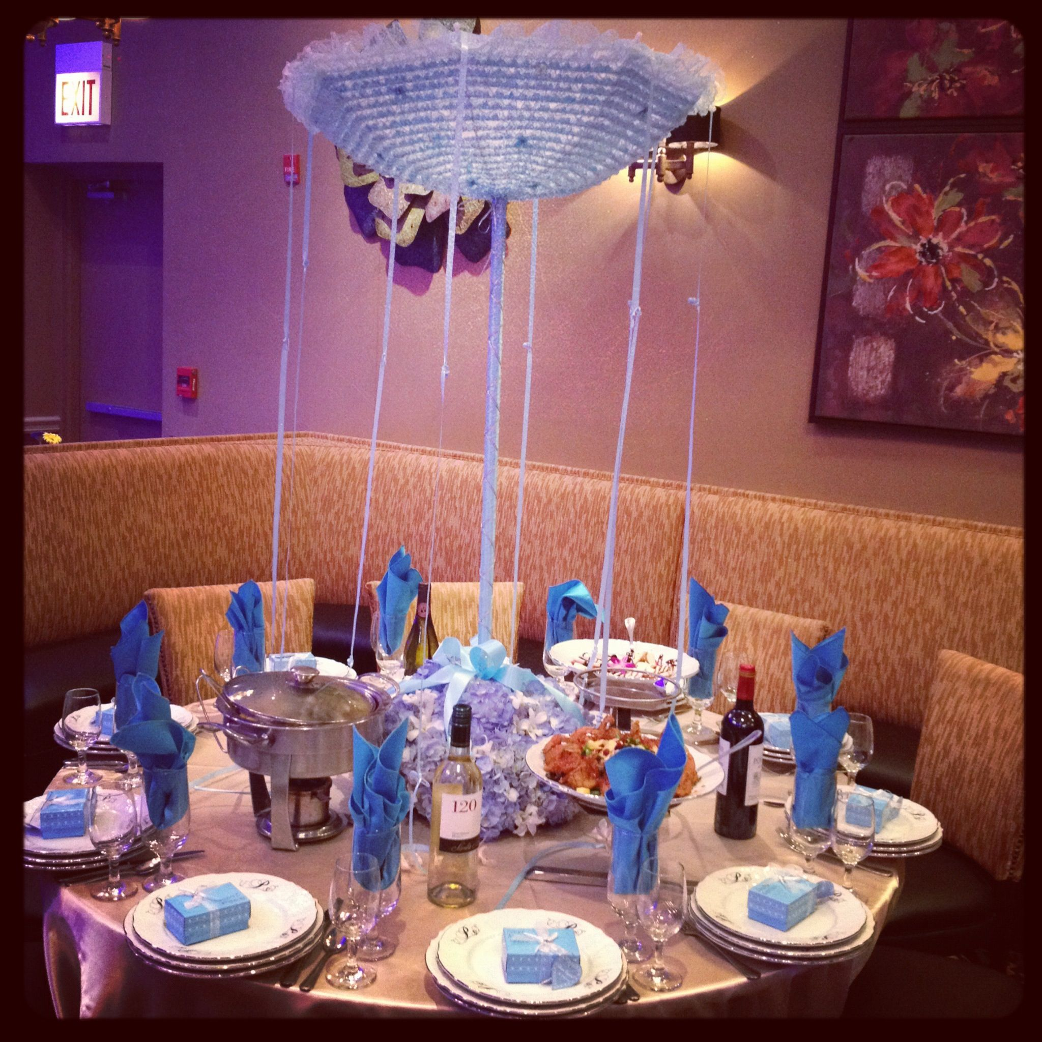 A Very Unique High Table Centerpiece Custom Made Upside