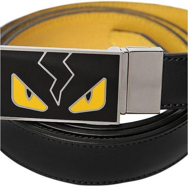 a1494e0e1eb Fendi Men Monster Reversible Leather Belt ($530) ❤ liked on Polyvore  featuring men's fashion, men's accessories, men's belts, mens red leather  belt, ...