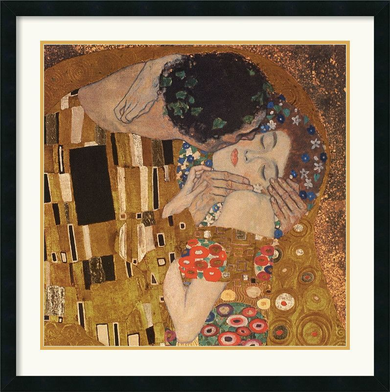 The Kiss (detail), 1907\' by Gustav Klimt Framed Painting Print ...