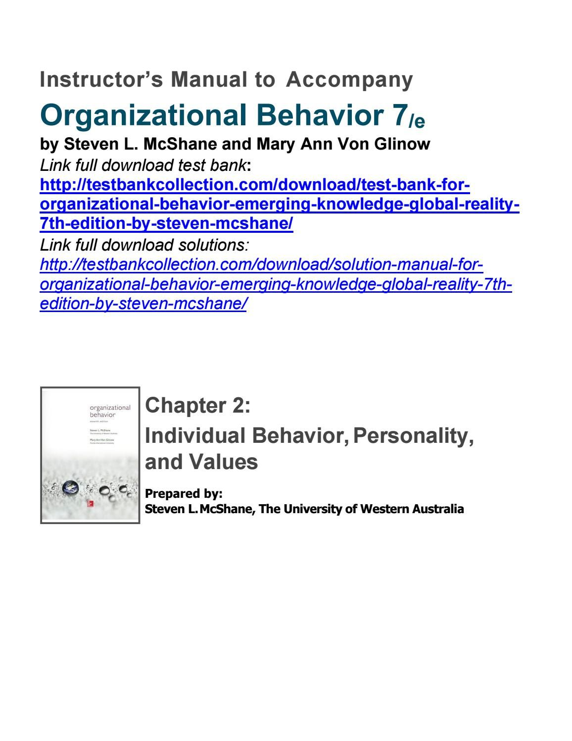 organizational behavior emerging knowledge global reality 7th rh pinterest com Importance of Organizational Behavior Importance of Organizational Behavior