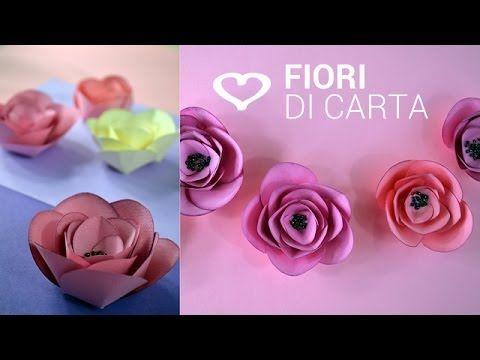 Youtube Fiori Di Carta.Fiori Di Carta Shabby Facili Veloci Diy Shabby Paper Flowers