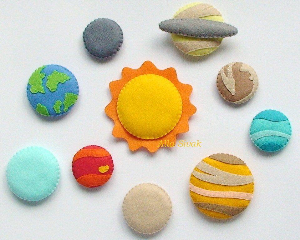 Solar System Solar System Magnets Celestial Set toy solar | Etsy #felttoys