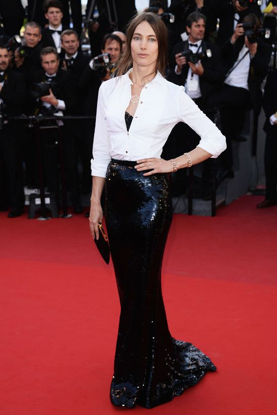 Le look black and white de Jessica Miller Festival de Cannes Le Passé