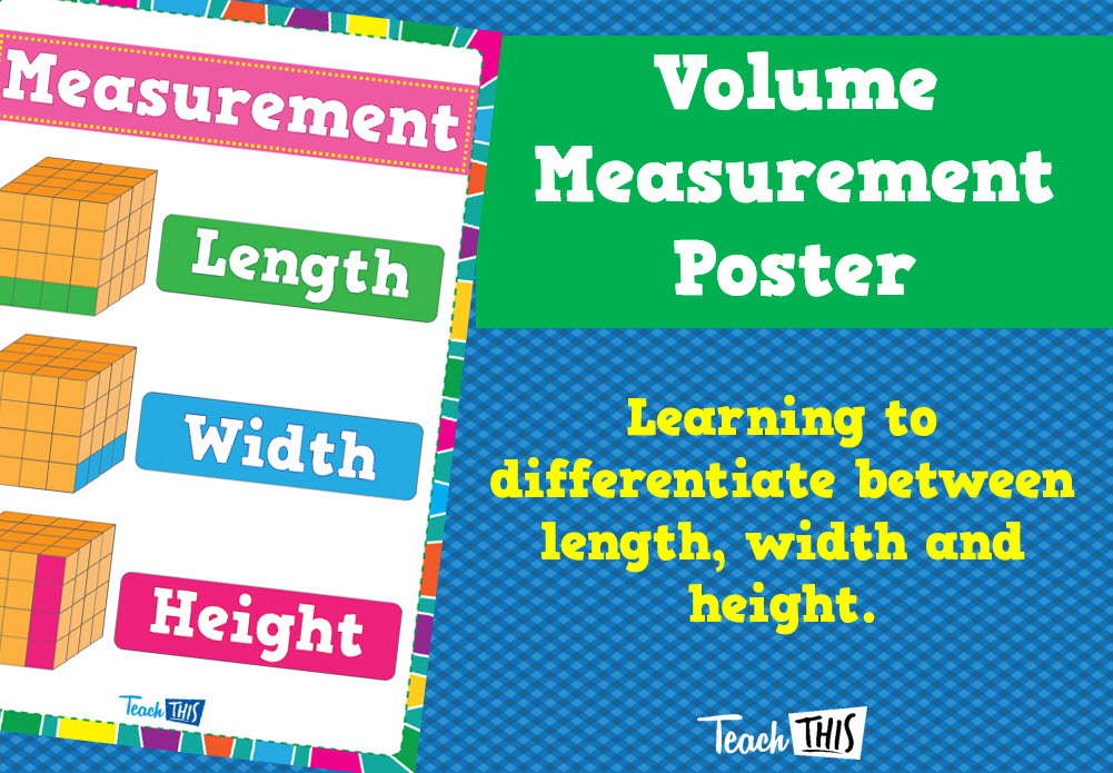 Volume Measurement Poster | Anchor Charts | Pinterest | Math charts ...