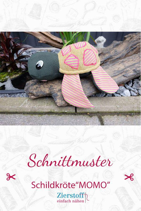 Schnittmuster und Anleitung Schildkröte Momo #toydoll