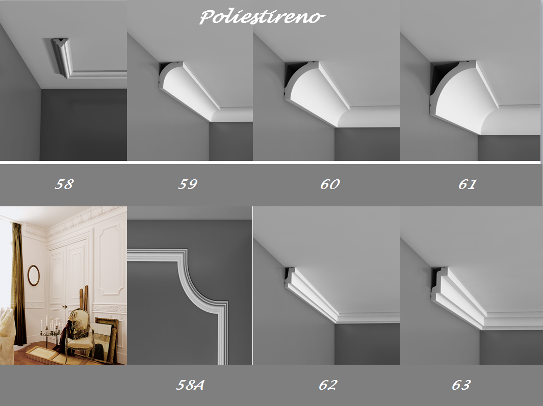 Molduras anime yeso pisos laminado madera rosetones for Molduras para techo