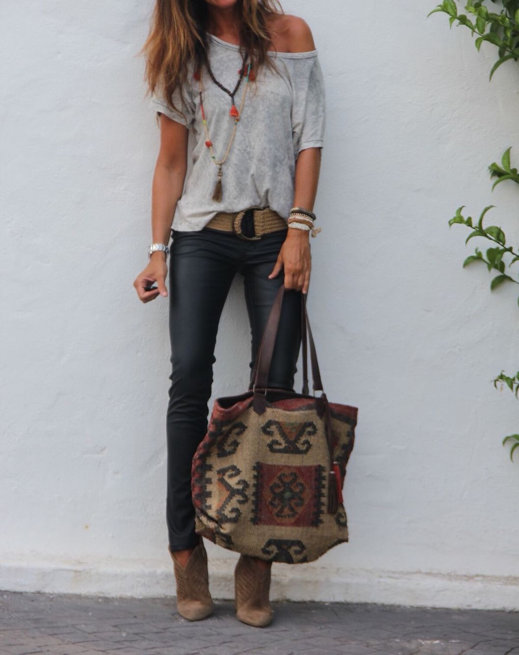 Wish I could pull this one off (well except the bag)! Feels pretty rock n roll to me!