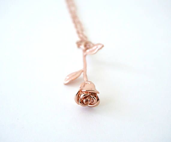Tiny Diamond Flower Necklace for Women**Minimalist Necklace**Gold floral Necklace**Daily Jewelry**Bridesmaid Gift for Her**Birthday Gift