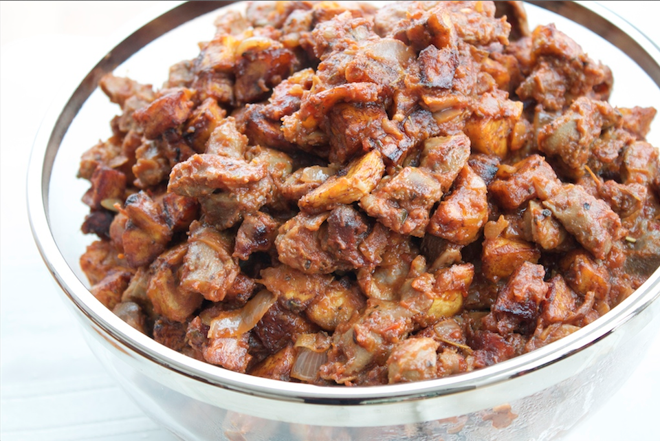 Gizdodo Is A Nigerian Recipe That Combines Peppered Gizzards With Diced Fried Plantains Forming