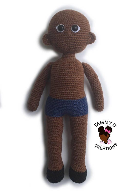 Crochet Doll Pattern 18 inch crochet doll pattern Black | Amigurumi ...