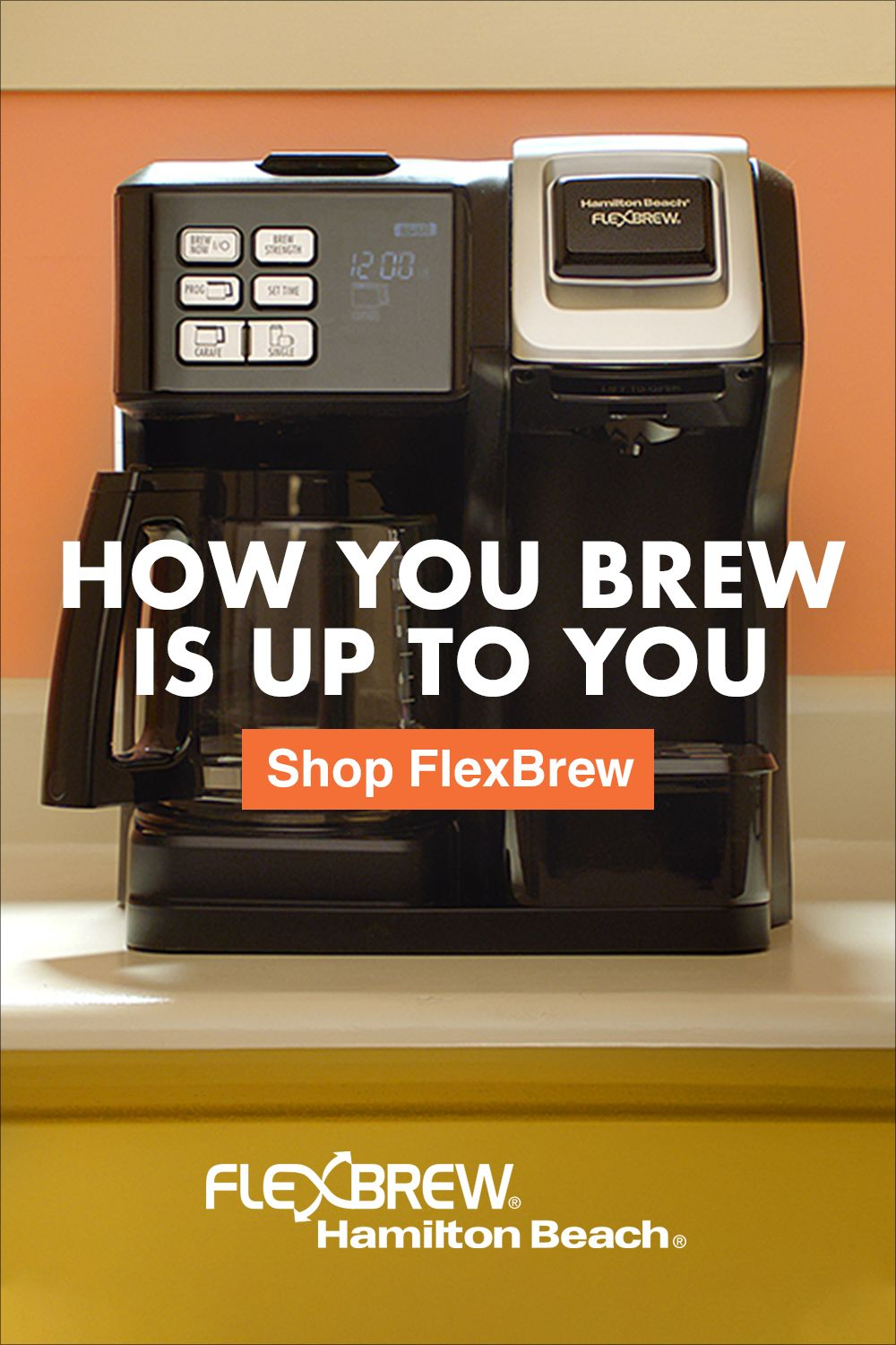 From K-Cup® pods to ground coffee, how you brew is up to you