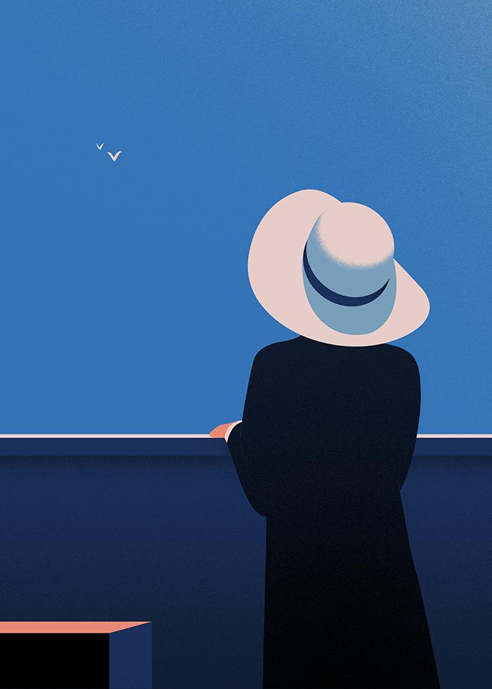 Thomas Danthony's minimalist illustrations that play with light to create stylish narratives