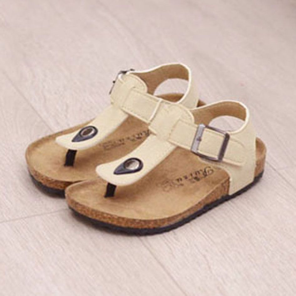 85eb5713405e8a Kids Cork Sole Clogs 2017 Vintage Kids Summer Sandals Unisex Girls Flip  Flops Boys Beach Shoes