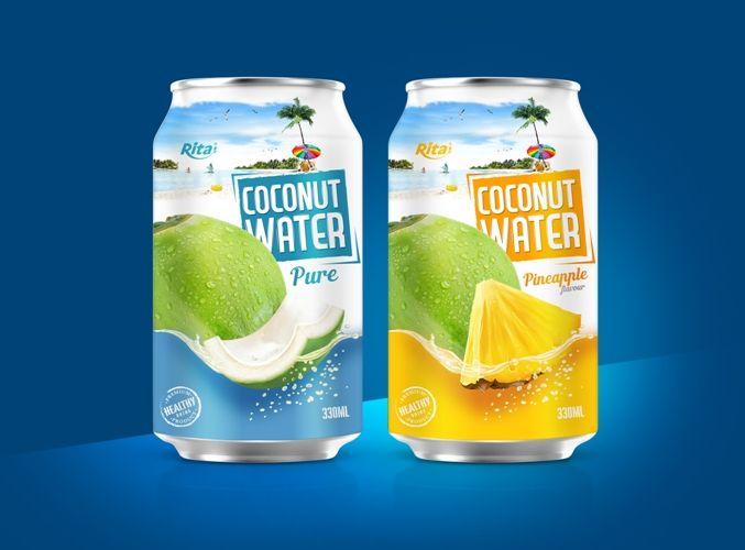 Rita Oem Canned Wholesale Coconut Water 음료 제품 포장