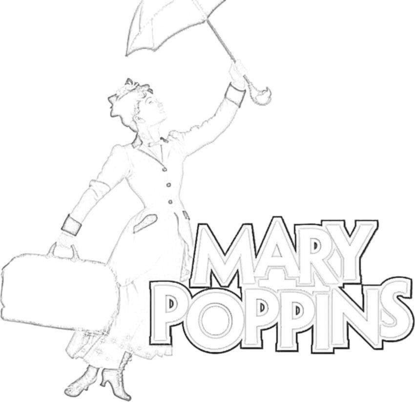 mary poppins coloring pages book - photo#14