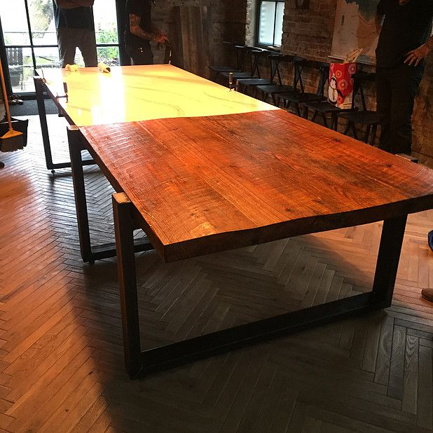 Modern Dining Room Table Fabricated By Wayward Machine Co Click On The Pin Contact Us To Collaborate On Y Modern Dining Room Tables Table Modern Dining Room