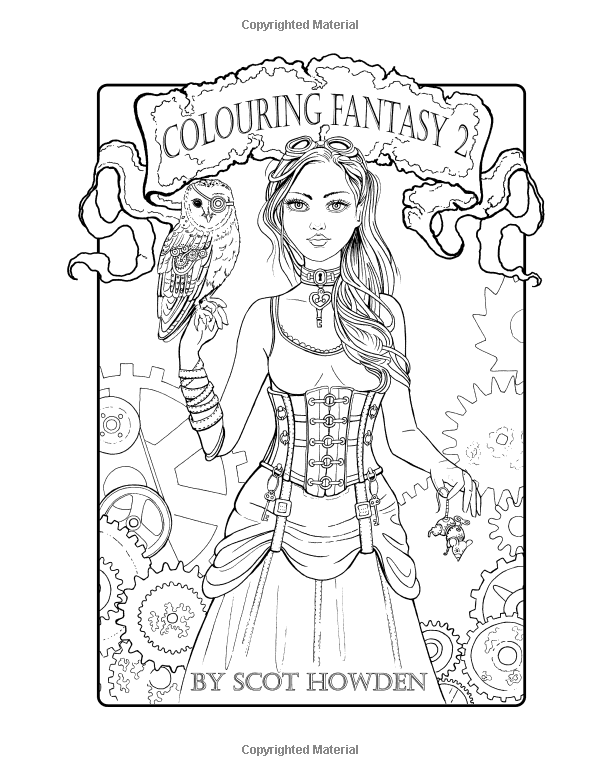 colouring fantasy 2 colouring book by scot howden volume 2 scot howden - Amazon Coloring Book