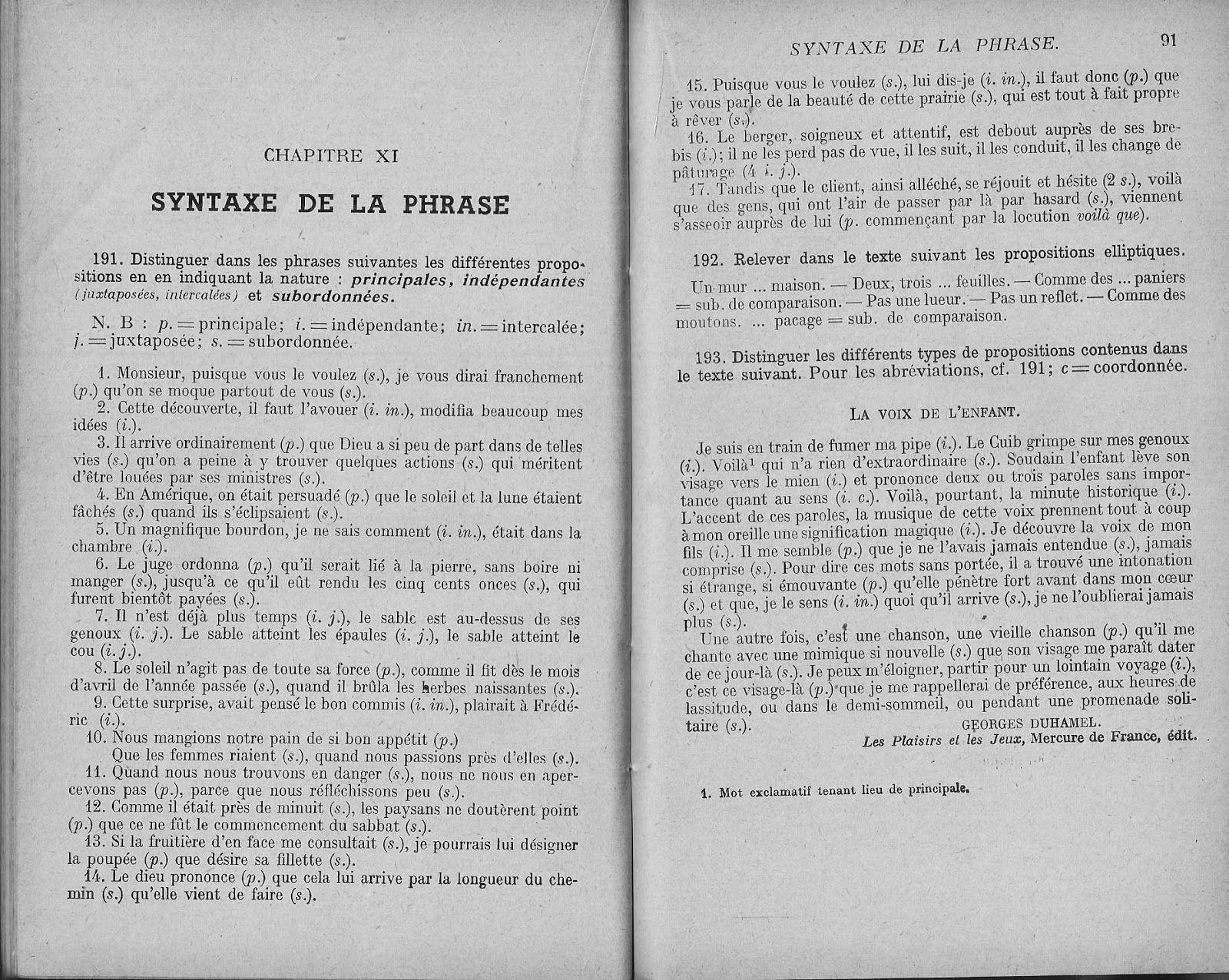 Bloch Georgin Exercices Sur La Grammaire Francaise 6e Corriges 1936 La Grammaire Francaise Grammaire Francaise La Grammaire