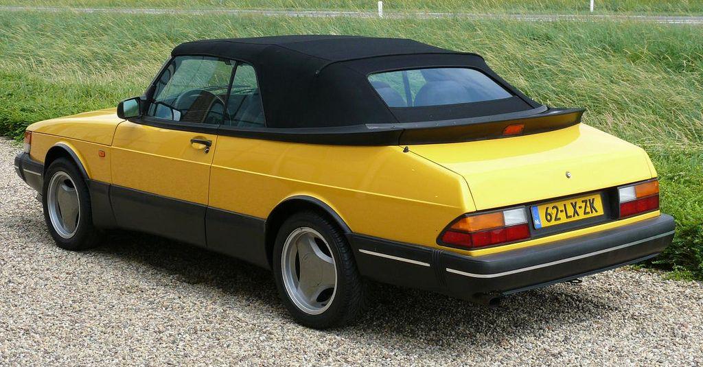 Saab 900s Cabriolet Yellow Hl 1993 Saab 900 Saab Convertible Saab Turbo