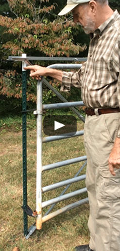 Hang A Gate From A T Post Hanging Gate Inventions